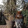 Træbrændt stentøjskrukke Ø47 x H102 cm