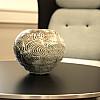 Unika træbrændt vase, ca. H20 cm