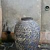 Træbrændt stentøjskrukke Ø68 x H101 cm