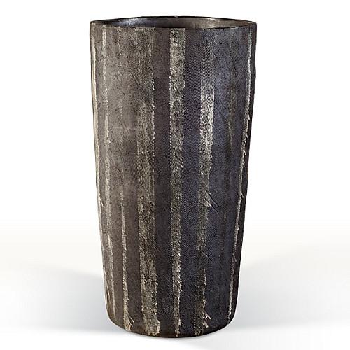 Træbrændt stentøjskrukke Ø44 x H81 cm