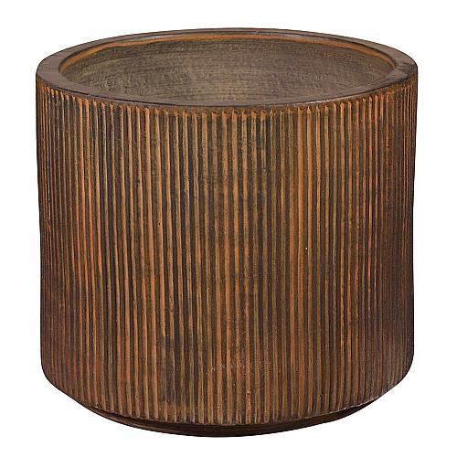 Træbrændt Cylinder plantekrukke Ø46 x H40 cm