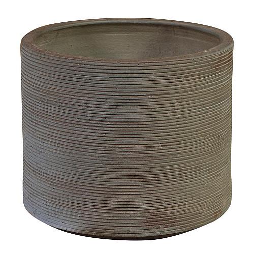 Træbrændt Cylinder plantekrukke Ø43 x H37 cm