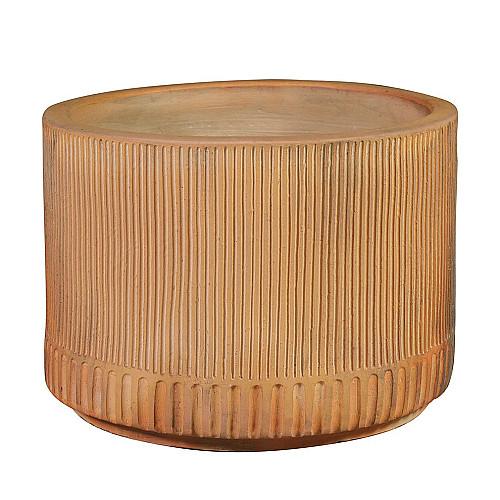 Træbrændte Cylinder plantekrukke Ø70 x H50 cm