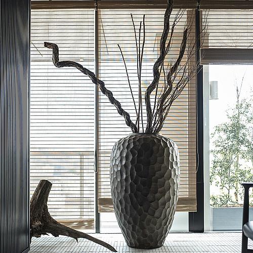 Træbrændt stentøjskrukke Ø65 x H108 cm